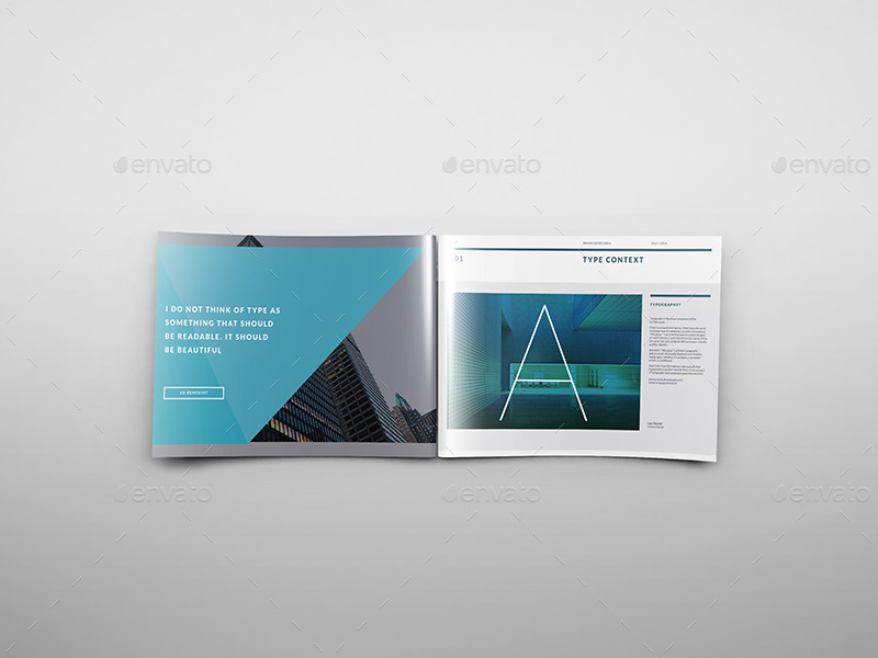 A4 Landscape Brochure Mockups By Wutip | Graphicriver