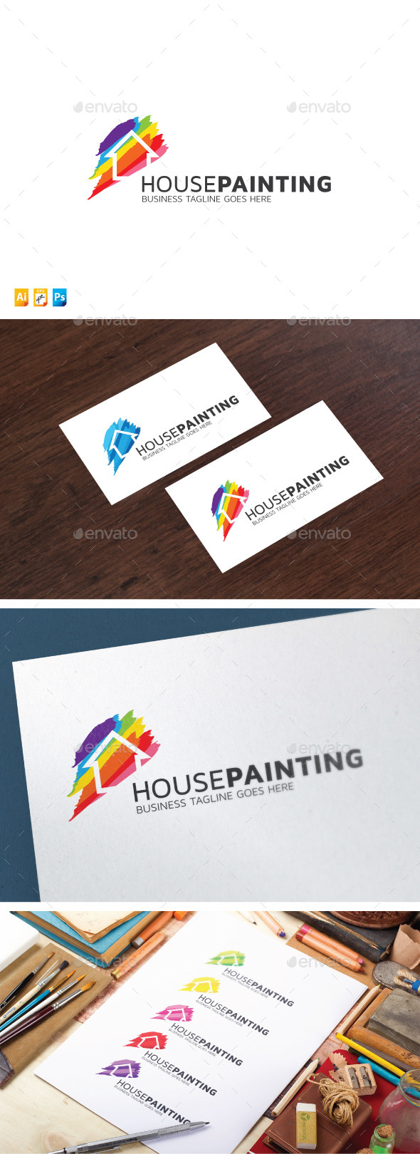 House Painting - Abstract Logo Templates