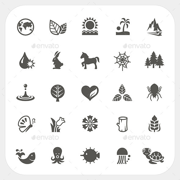 Nature Icons Set - Miscellaneous Vectors