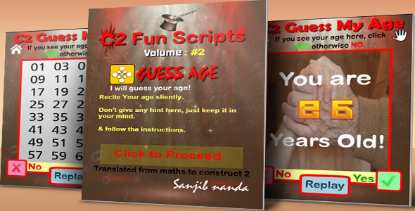 C2 Fun Scripts: Guess My Age - CodeCanyon Item for Sale