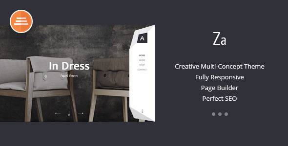 Za - Creative Fashion Portfolio WordPress Theme - Portfolio Creative