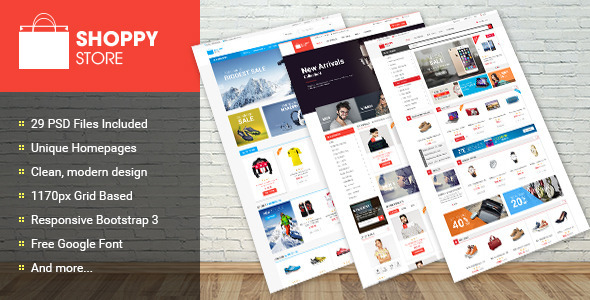 Shoppy Store – Multi-Purpose eCommerce PSD Theme