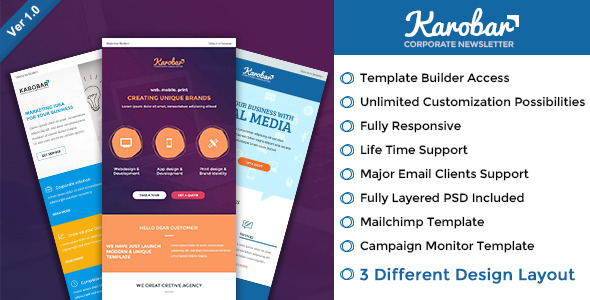 Karobar - Multipurpose Email + Builder Access - Email Templates Marketing