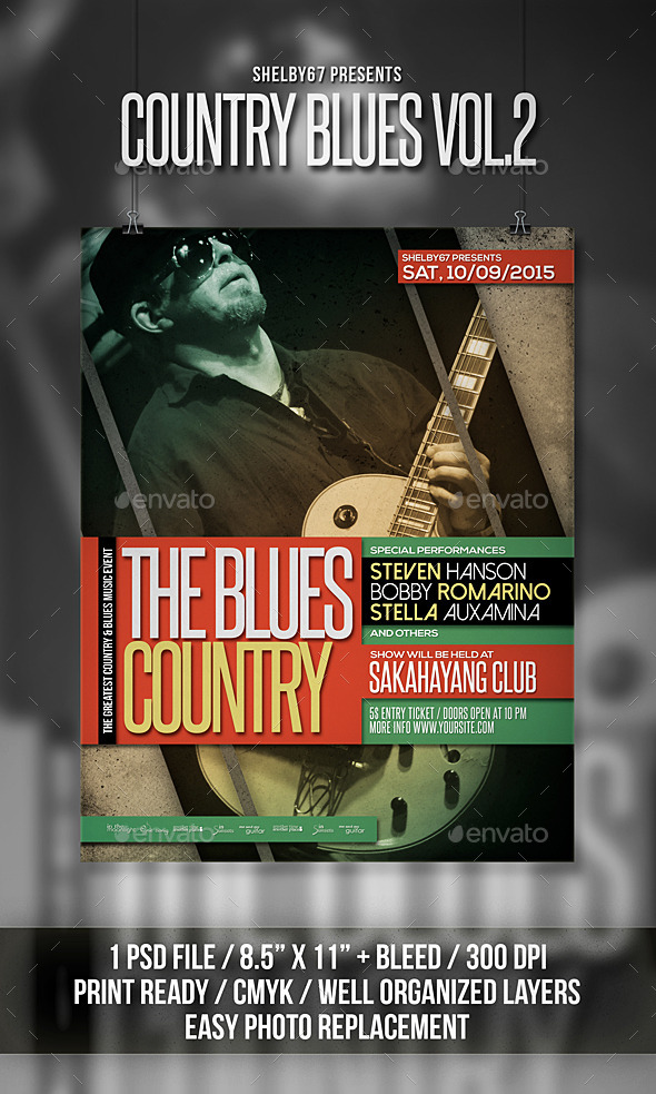 Country Blues Flyer Poster Vol 2