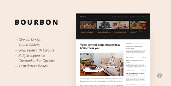 Bourbon — Responsive WordPress Blog Theme