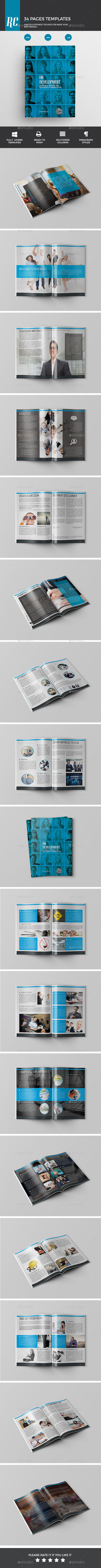 HR Development Book - Brochures Print Templates