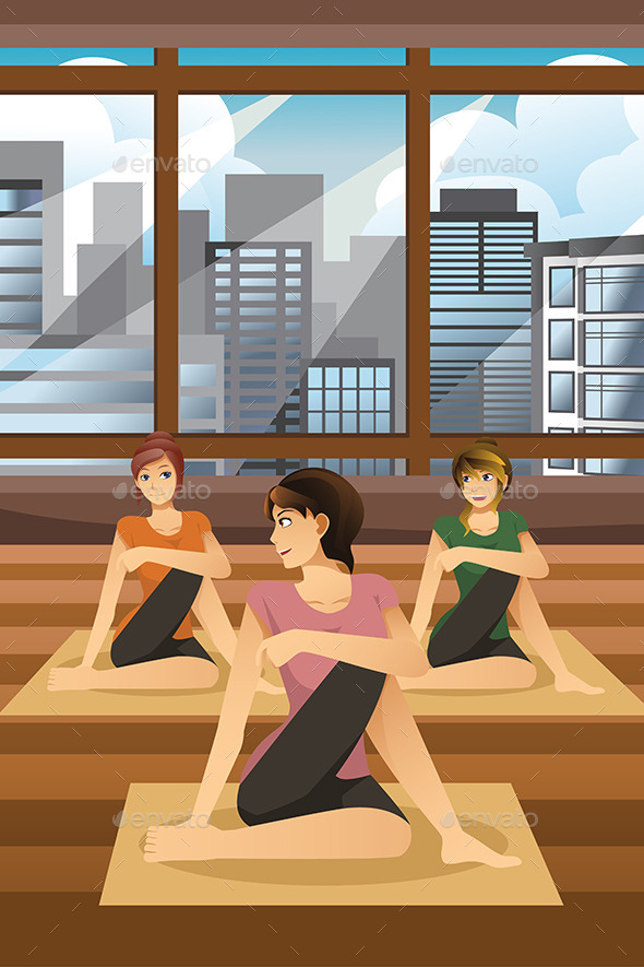 Women Doing Yoga - Sports/Activity Conceptual