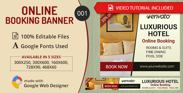 Multipurpose Online Booking Banner 001 - CodeCanyon Item for Sale