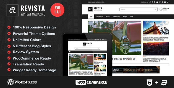 Revista - Flat Magazine WordPress Theme - Blog / Magazine WordPress