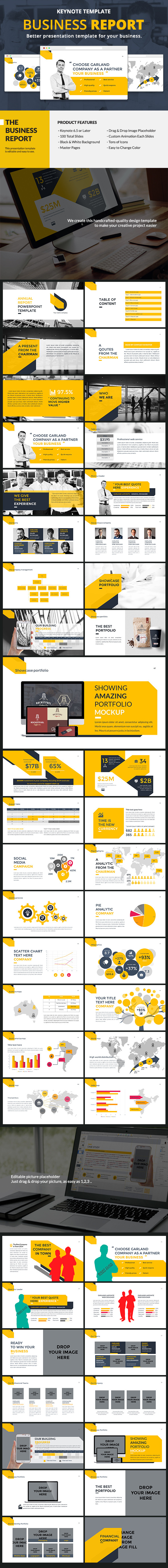 Business Report Keynote - Business Keynote Templates