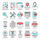 Technology and Device Flat Line Icons - GraphicRiver Item for Sale