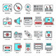 Technology and Culture Flat Line Icons - GraphicRiver Item for Sale