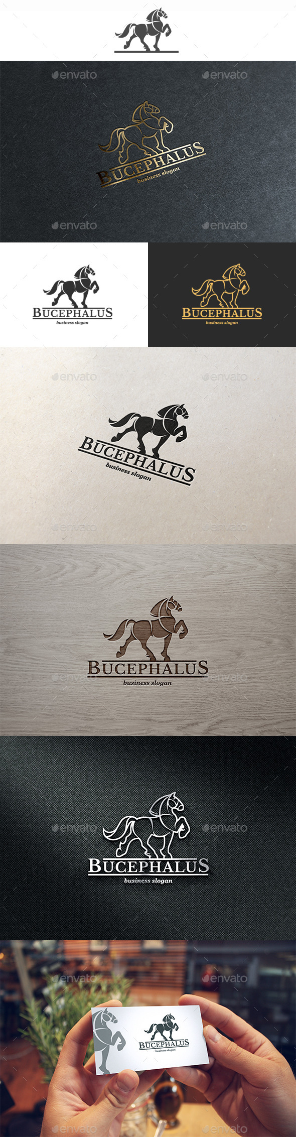 Bucephalus Logo - Animals Logo Templates