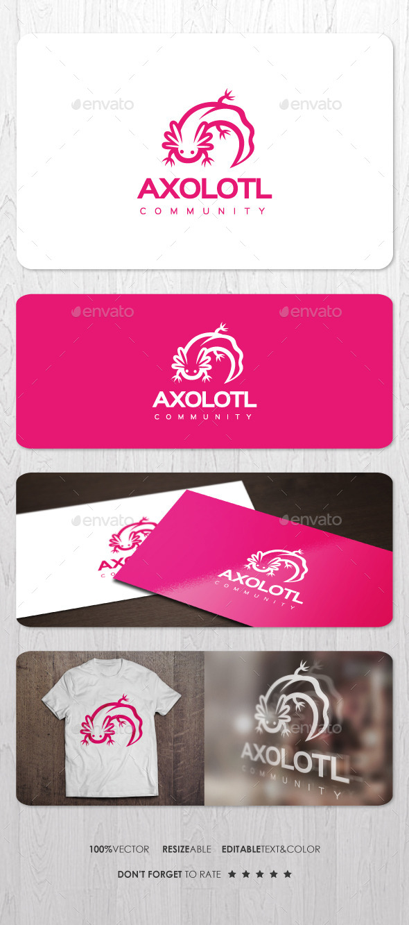 Axolotl Logo - Animals Logo Templates