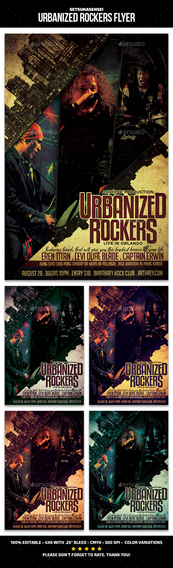Urbanized Rockers Flyer - Concerts Events