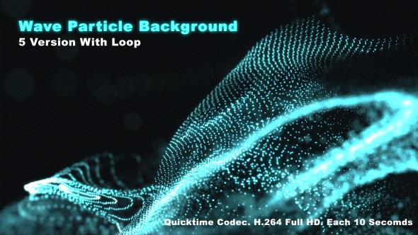 Wave Particle Background Aqua
