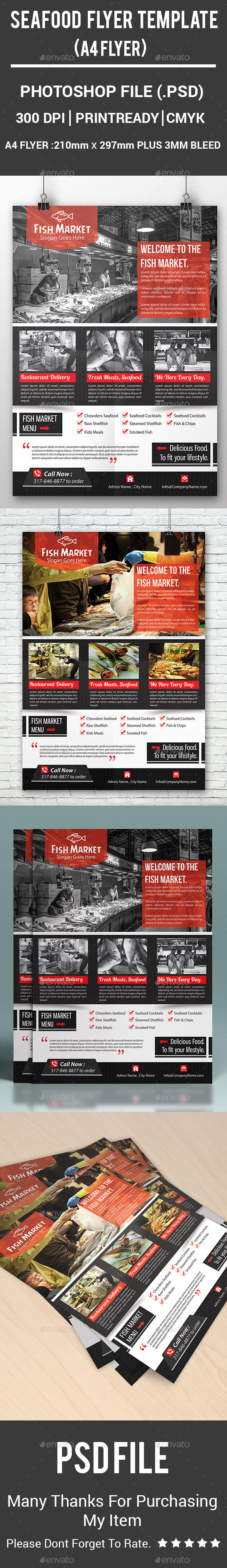 Seafood Flyer Template - Corporate Flyers
