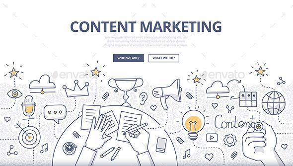 Content Marketing Doodle Concept - Concepts Business