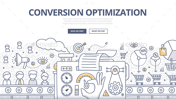 Conversion Optimization Doodle Concept - Concepts Business