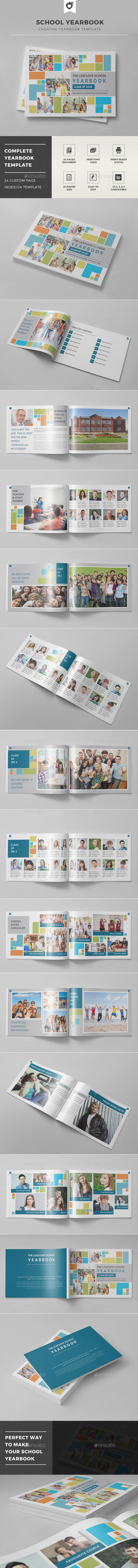 School Yearbook - Photo Albums Print Templates