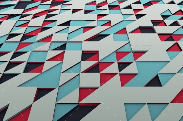 Abstract Colored Surface With Triangles