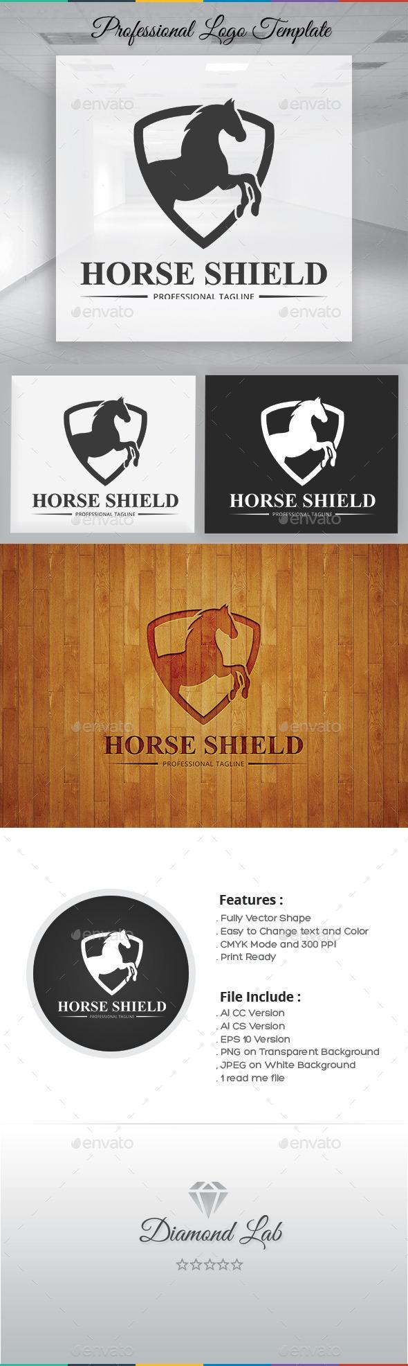 Horse Shield Logo Template