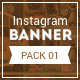 HD Instagram Banners - Pack 1  - GraphicRiver Item for Sale