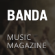 Banda - HTML5 Music Magazine - ThemeForest Item for Sale