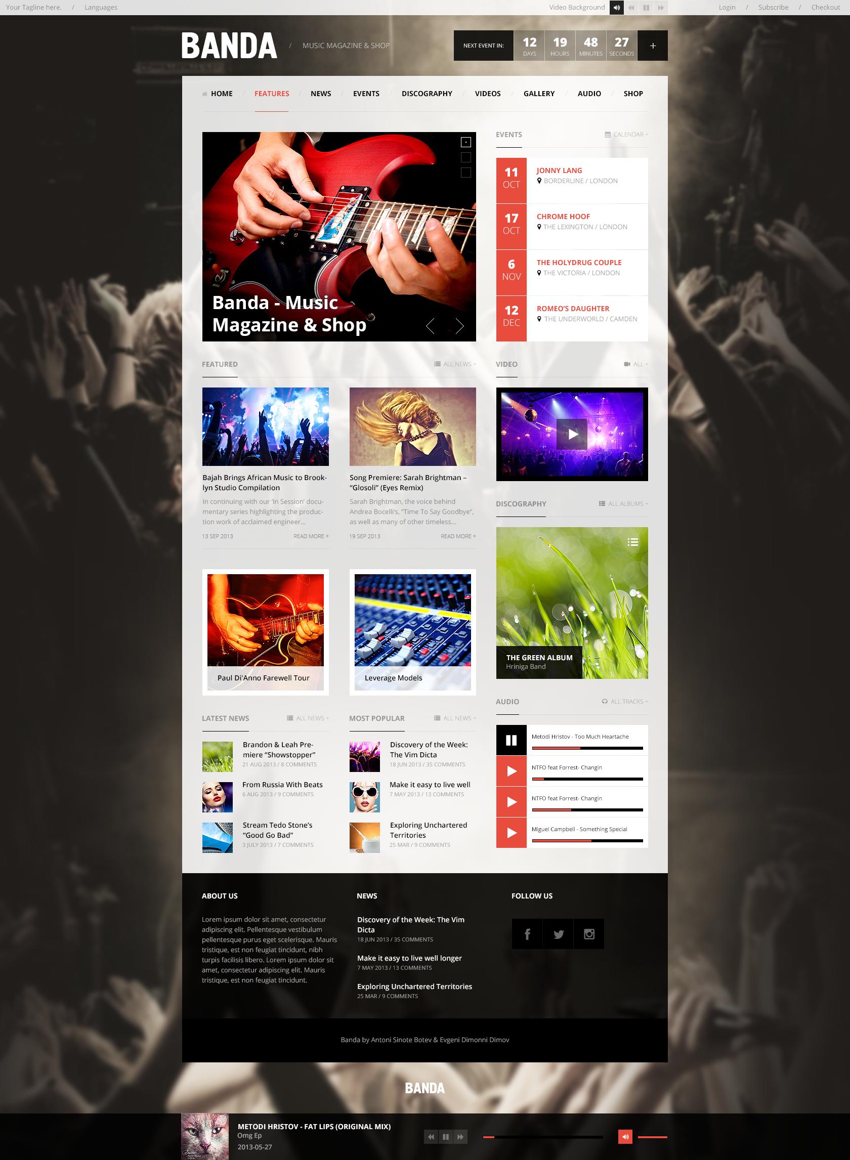 Banda - WordPress Music Magazine by Sinote | ThemeForest