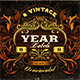 8 Vintage Year Labels - GraphicRiver Item for Sale