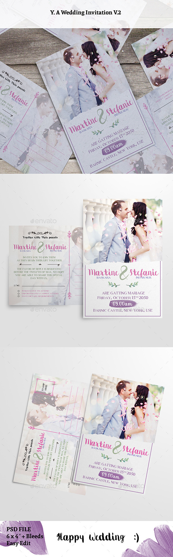 Wedding Invitation V2 - Weddings Cards & Invites