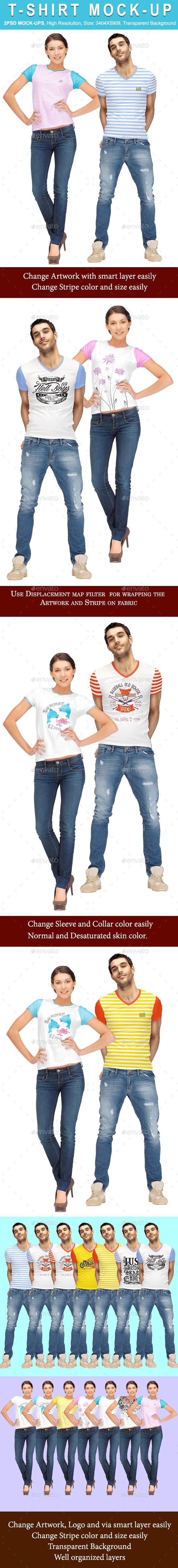 T-Shirt Mock_Up - Apparel Product Mock-Ups