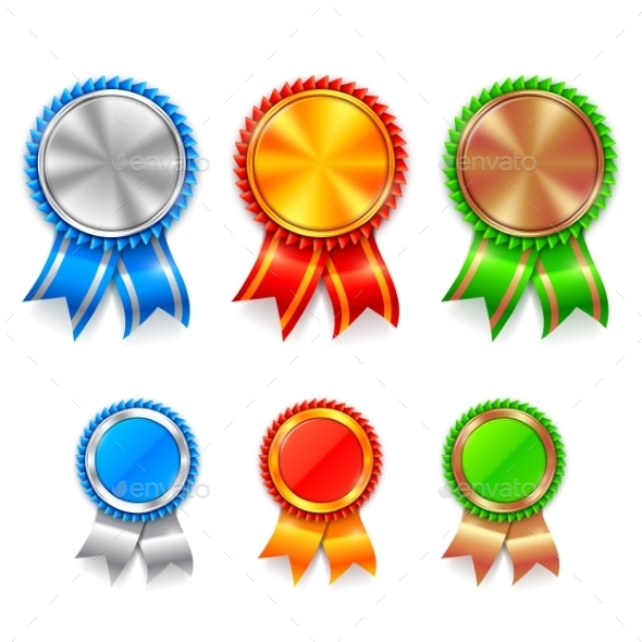 Color Award Medals - Sports/Activity Conceptual