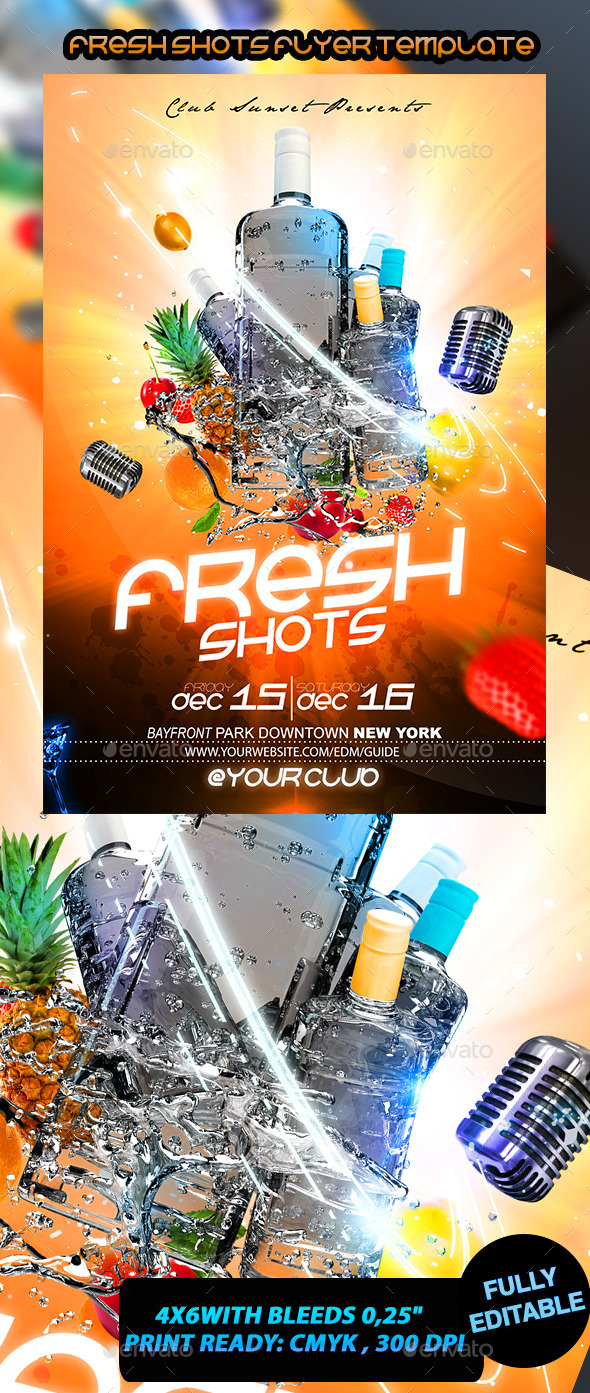 Fresh Shots Flyer Template - Events Flyers