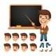 Set of Cartoon Teacher Character - GraphicRiver Item for Sale