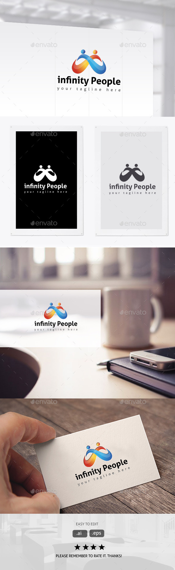 Infinity People - Humans Logo Templates