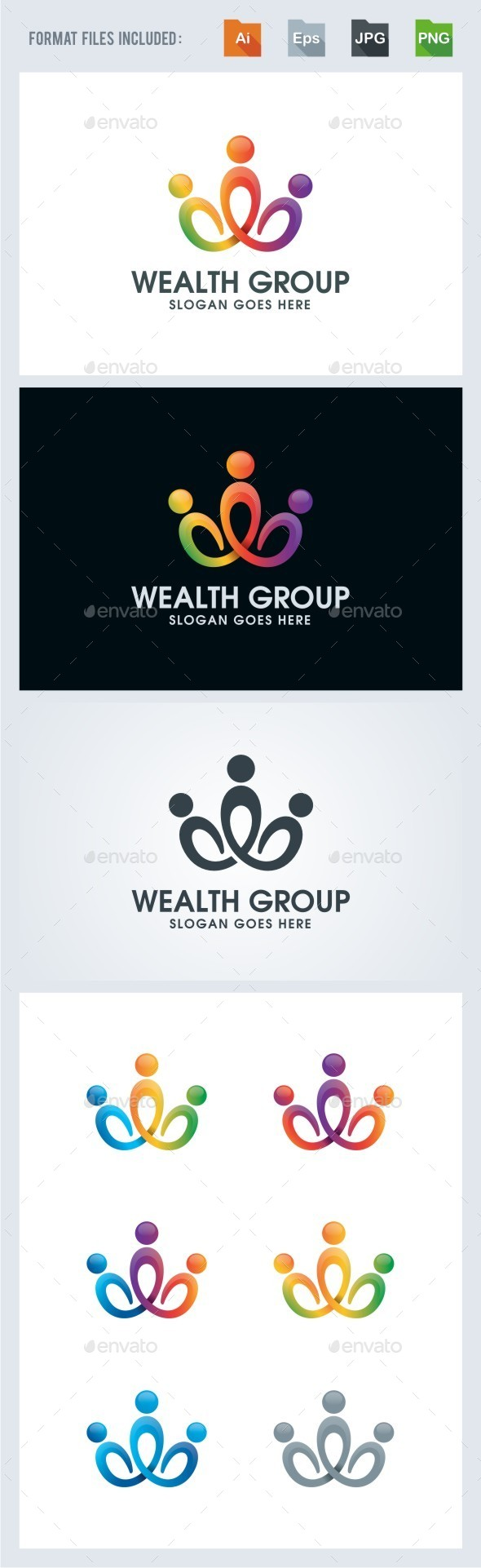Wealth Group - Community Logo Template - Humans Logo Templates