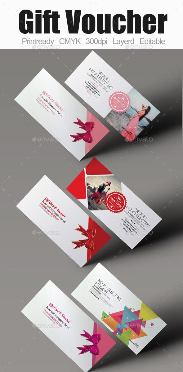 Multi Use Gift Voucher Bundle - Cards & Invites Print Templates