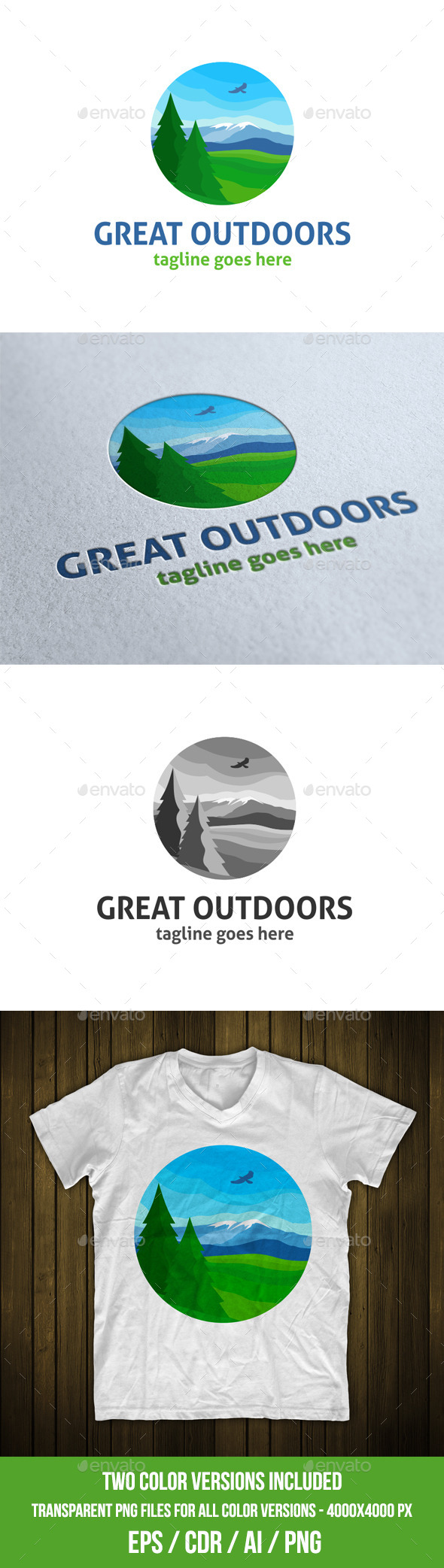 Great Outdoors Logo Template