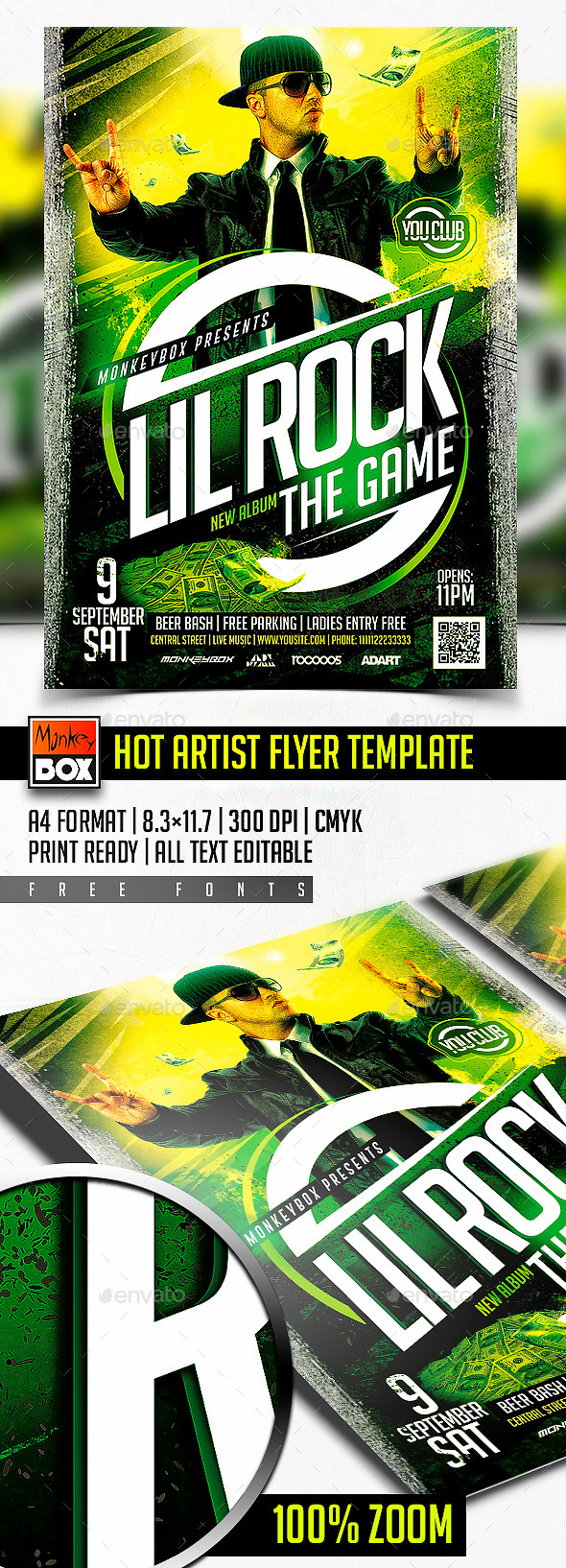 Hot Artist Flyer Template