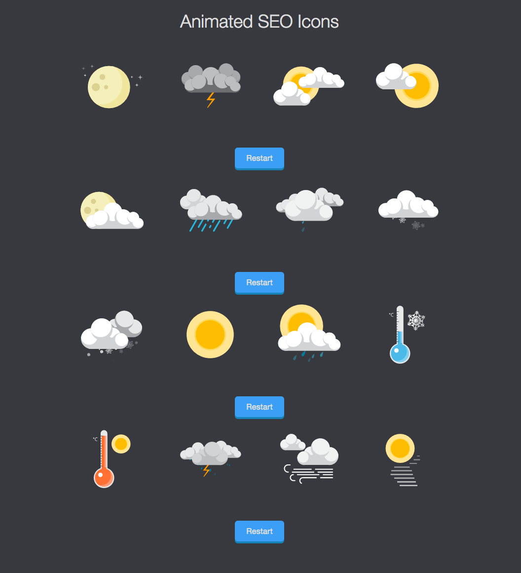 Animated SVG Weather Icons