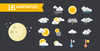 Flat weather icons set.  thumbnail