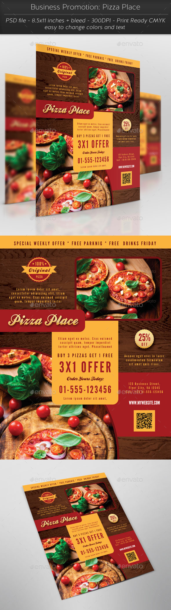 Business Promotion Pizza Place