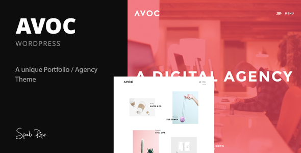 Avoc – Minimal Portfolio / Agency WordPress Theme
