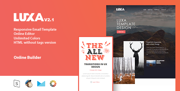 LUXA - Responsive Email Template + Online Editor