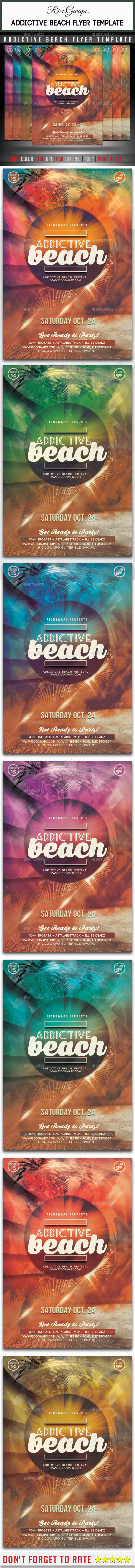 Addictive Summer Flyer Template - Flyers Print Templates