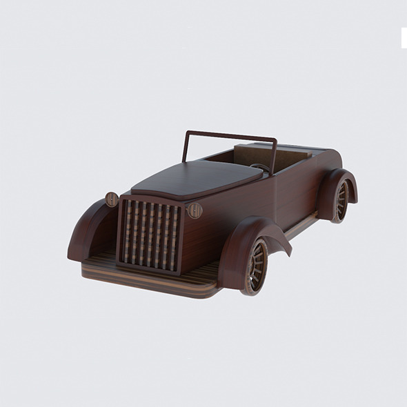 Wood Car - 3DOcean Item for Sale