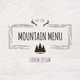 Mountain Menu - GraphicRiver Item for Sale