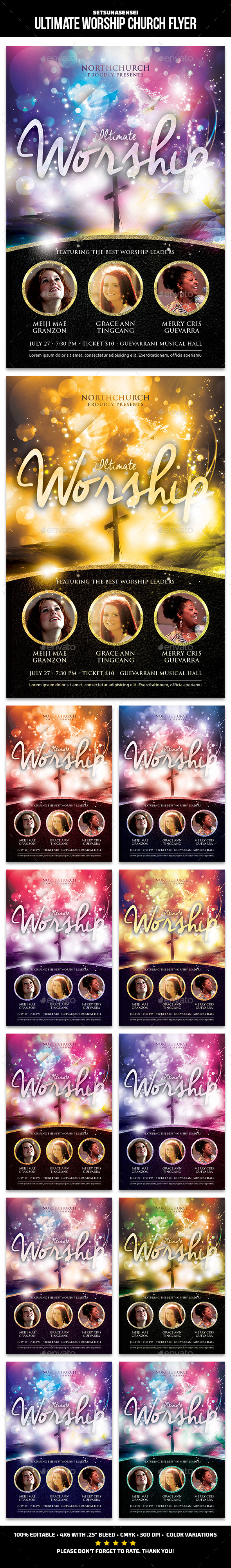 Ultimate Worship Church Flyer - Church Flyers