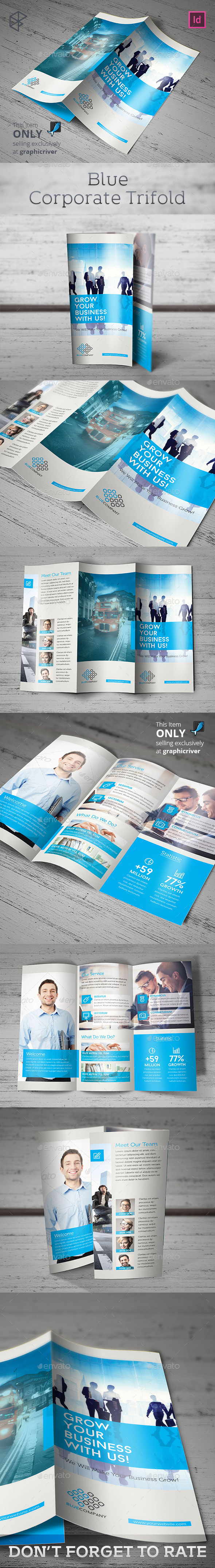 Blue Corporate Trifold - Corporate Brochures